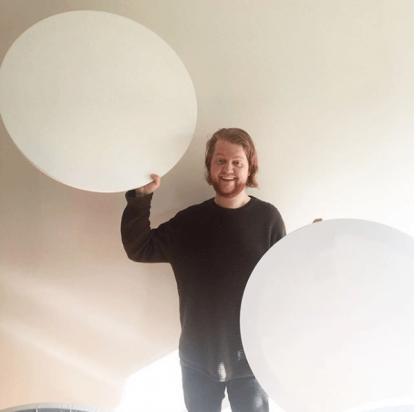 80cm round canvas